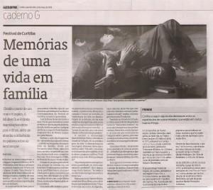 AMQR. curitiba - gazeta do povo 23.03.09
